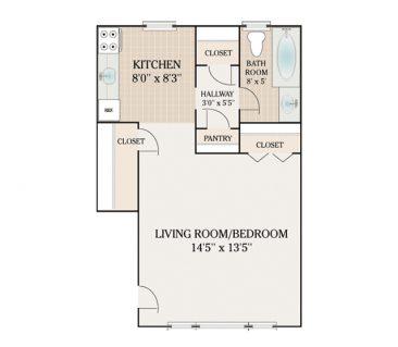Green Grove Apartments For Rent in Keyport, NJ Studio