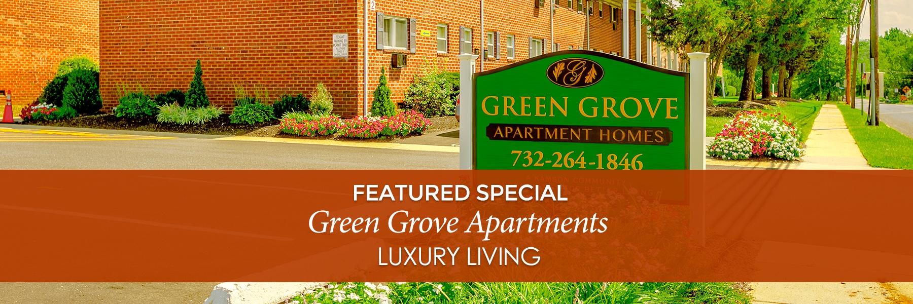 Green Grove Apartments For Rent in Keyport, NJ Specials